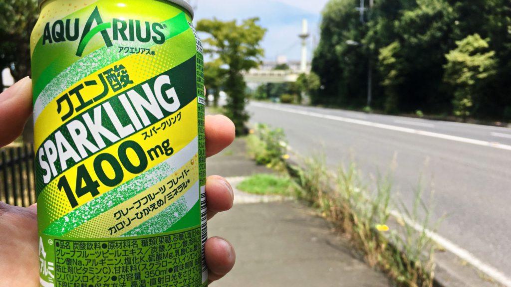 アクエリアススパーリングの缶
