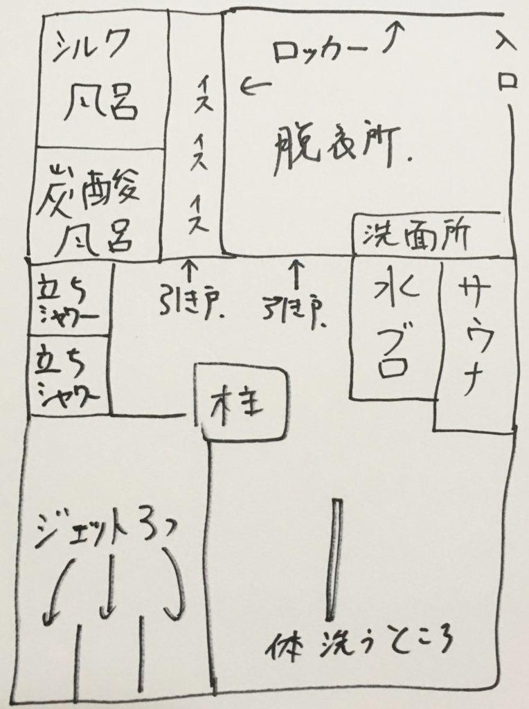表参道清水湯の見取り図