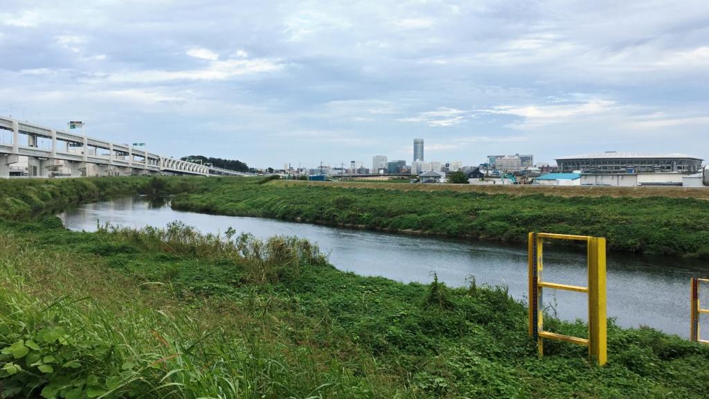 新横浜あたりの鶴見川河川敷