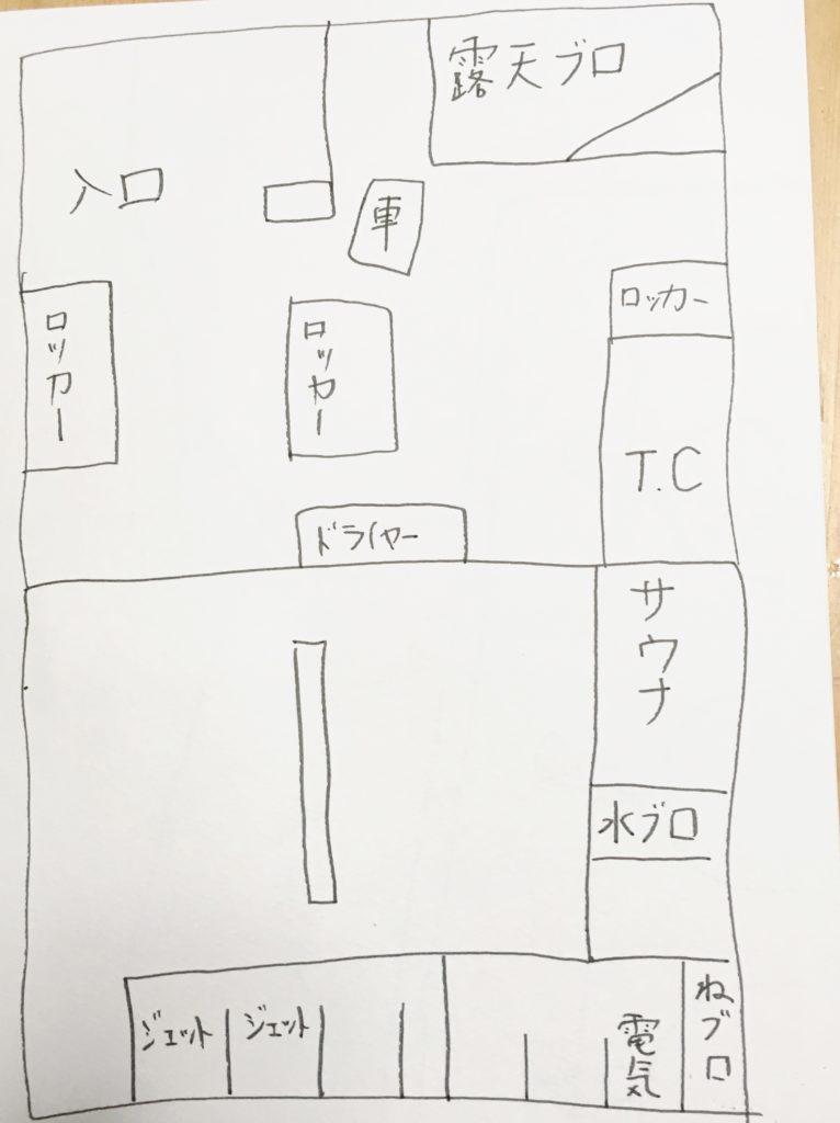 風呂場の見取り図