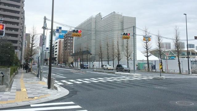 東京マラソンフル36km地点の高輪四丁目交差点