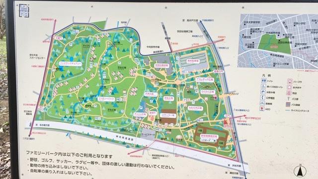 砧公園の案内板