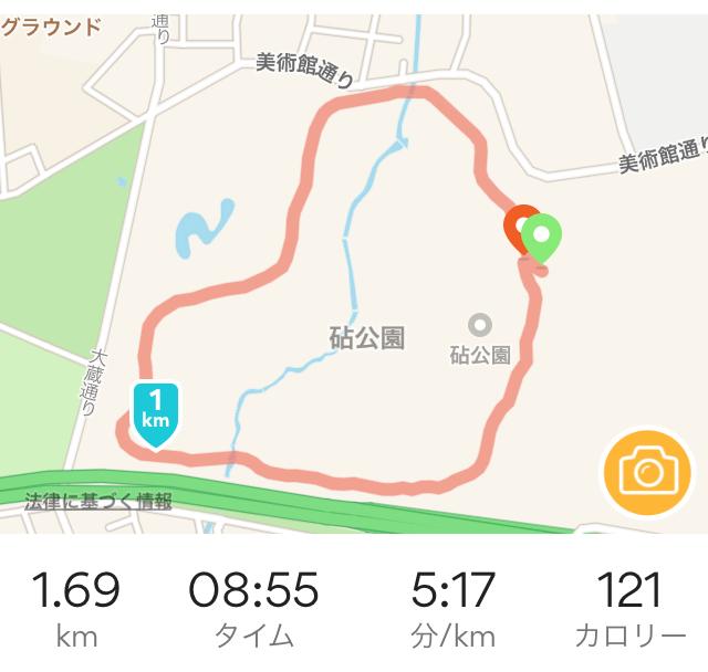 砧公園の周回コースマップ
