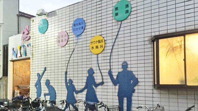 武蔵新田駅の銭湯「新田浴場」の外観