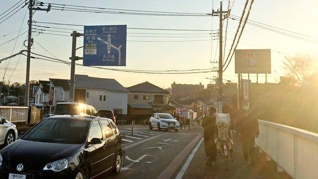 神奈川県横浜市を流れる早淵川流域