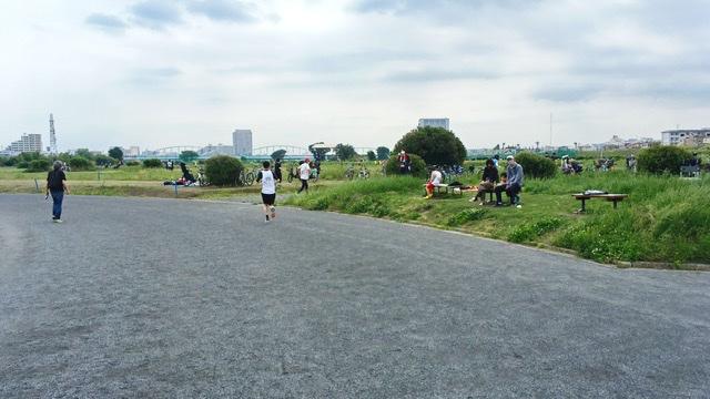 月例川崎マラソン3kmの部のスタート直後