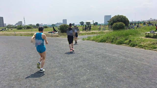 月例川崎マラソン5kmの部のスタート直後