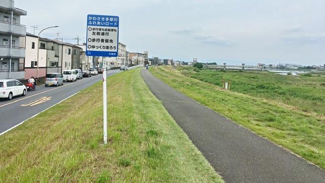川崎多摩川ふれあいロードの標識