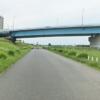 多摩川河川敷右岸から見る246