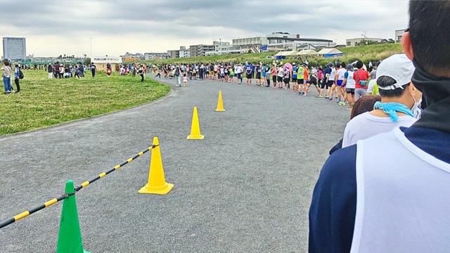月例川崎マラソン1kmスタート前の行列