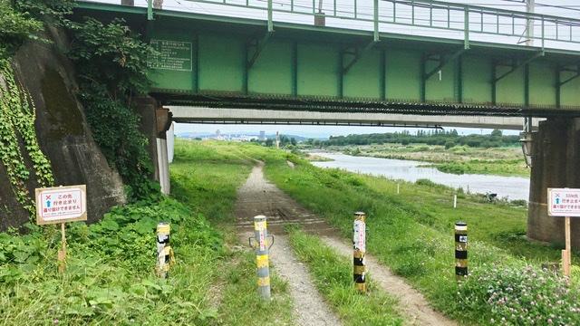 多摩川河川敷右岸南武線下