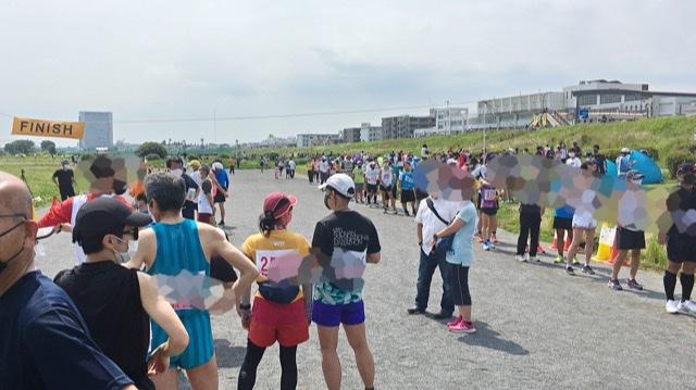 月例川崎マラソン5kmの部のスタート前の行列