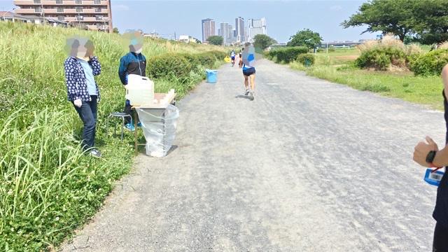 月例川崎マラソン5kmの部の給水所