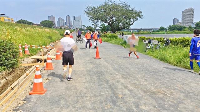 月例川崎マラソン1km疾走中