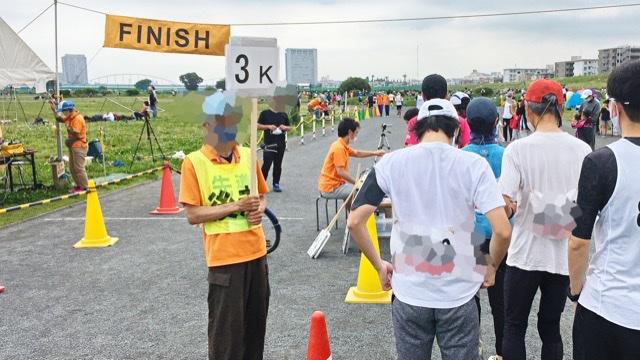 月例川崎マラソン3kmの部の看板