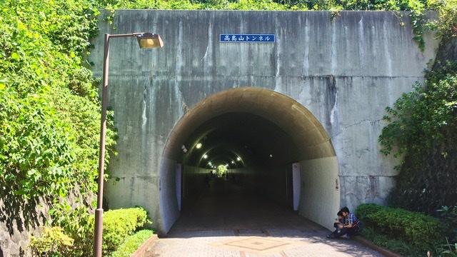 東横フラワー緑道のトンネル