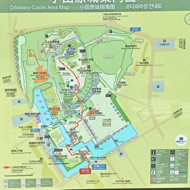 小田原城園内マップ