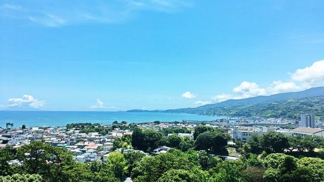 小田原城天守閣展望デッキからの眺望