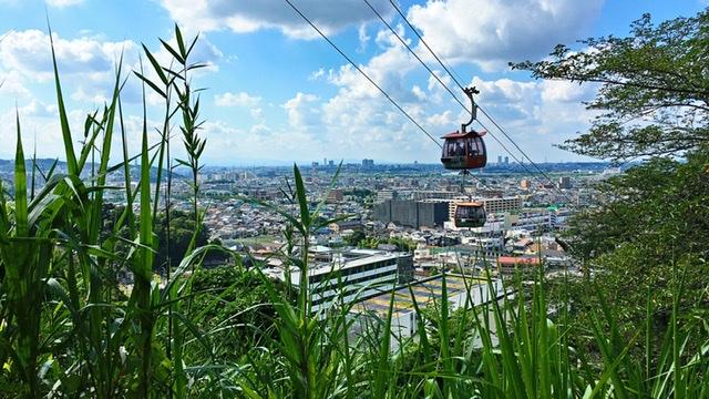 稲城市矢野口の遊歩道「巨人への道」途中からの眺望