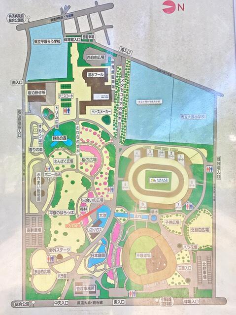 平塚市総合公園マップ