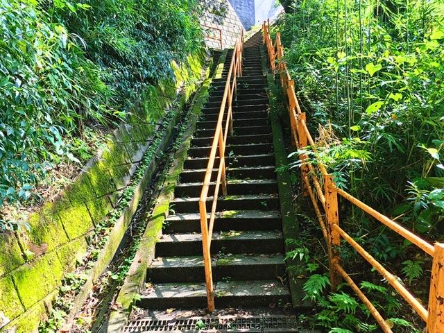 稲城市矢野口の遊歩道「巨人への道」