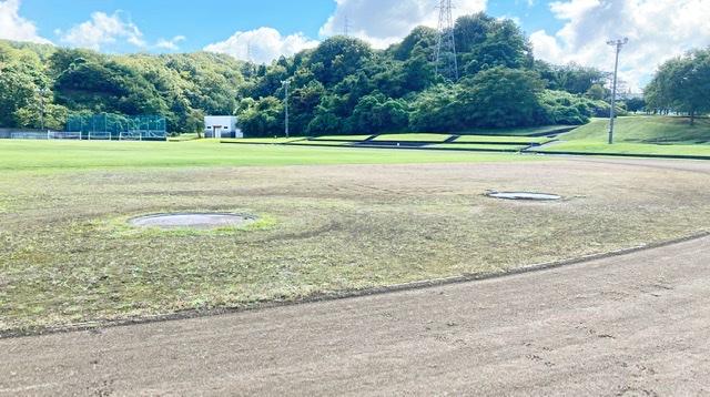 見附運動公園の陸上競技場トラック